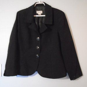 TanJay black blazer with buttons, petite 12